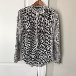 Apt 9 Patterned Button Down